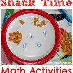 Math Activities for Kindergarten: Snack Time Practice