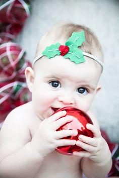 Holly Christmas Headband Felt Berries and Leaves