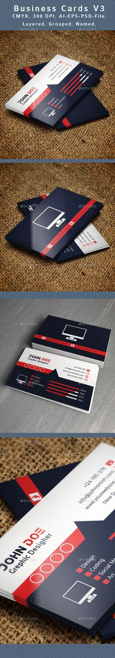 Creative Business Card Template PSD   Buy and Download: http://graphicriver.net/item/creative-business-card-v3/8981355?WT.ac=category_thumb&WT.z_author=abdul_koriembulbul22&ref=ksioks