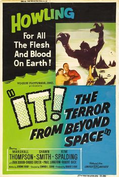 Poster art for It! The Terror From Beyond Space, 1958.