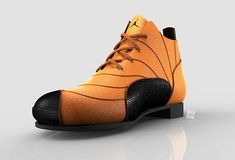 "Conceptual casual/formal shoe design inspired by very popular retro model Air Jordan 12 ""Taxi"""