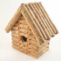 diz ideen mit kork basteln mit korken vogelhaus