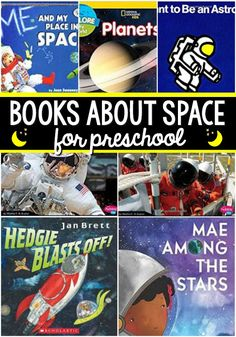 Space Books for Preschoolers - Pre-K Pages - Vanessa Pre-K Pages - Space Books for Preschoolers - Pre-K Pages Books About Space for Preschool. The best books to read aloud for a space theme in your preschool, pre-k, or kindergarten classroom. Preschool Rocket, Preschool Books, Preschool Curriculum, Kindergarten Classroom, Books For Preschoolers, Planets Preschool, Homeschooling, Preschool Age, Classroom Fun