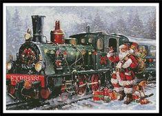 """Christmas Express"" by Artecy Cross Stitch"