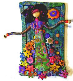 """""""Summer Serendipity"""" wall hanging. Gera Scott Chandler's aMused Studio is located in Victoria BC. Her work is available for sale at the following galleries and shops-"""