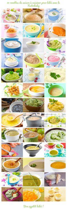 39 recettes de saison à cuisiner pour bébé avec le Nutribaby