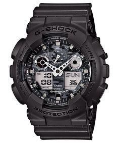 Casio G-Shock Analogue/Digital Mens Camouflage Grey Watch Casio G Shock Watches, Gents Watches, Sport Watches, Cool Watches, Watches For Men, Wrist Watches, Casio G-shock, Casio Watch, Rolex Datejust Ii