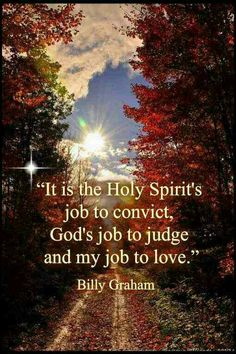 Our job is to love and not judge!