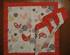 Quilted Strait: Quick and Simple Double-sided Napkins Tutorial