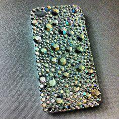 SnapWidget | My DIY rhinestone encrusted iPhone case #diy #rhinestones #iphone #iphonecase