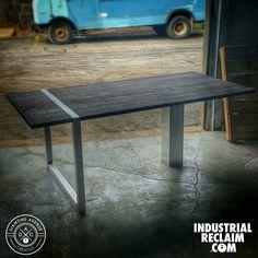 Another work in progress. Aluminum base with reclaimed top. IndustrialReclaim.com