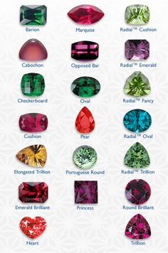 Gemstone | Diamond and gemstone jewelry comes in a bewildering array of standard ...