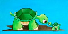 Mama and baby turtle print by Becca26 on Etsy, $10.00