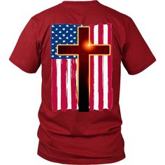 "CHRISTIAN AMERICAN FLAGBe a PROUD CHRISTIAN, get yours today & wear PROUDLY! ""Free Shipping"" this week, SHARE & RT"