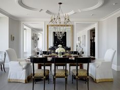 traditional dining room by Design Line Construction, Inc. - I love how simple yet sophisticated this dining room. The trimmed ceiling is the icing on the cake!