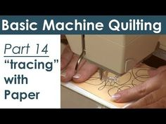 Using Paper Templates for Machine Quilting - YouTube