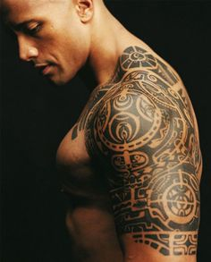 Maori Tribal Tattoo - Dwayne Johnson