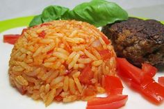 Tomatenreis von Sinja78 | Chefkoch Food Porn, Risotto, Grains, Rice, Beef, Ethnic Recipes, German, Recipes With Rice, Kochen