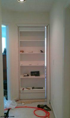 Crack Two: Hidden Door Bookshelf. DIY (16 pics)