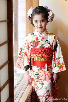 Precious Children, Beautiful Children, Cute Baby Halloween Costumes, Japanese Festival, Cute Kids Photography, Japanese Costume, Hair Setting, Vintage Kimono, Beauty Full Girl