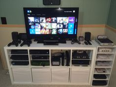 Nice gaming console setup via Reddit user, Fuzzymagge