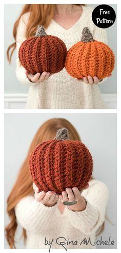 Crochet Pumpkin Pattern, Halloween Crochet Patterns, Crochet Blanket Patterns, Free Easy Crochet Patterns, Free Pumpkin Patterns, Crochet Ideas, Crochet Gifts, Cute Crochet, Crotchet