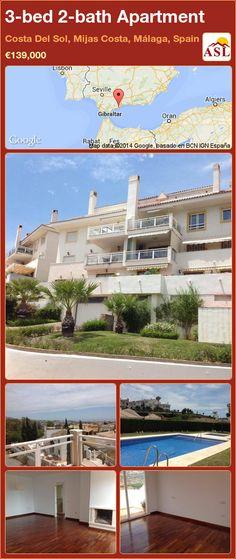 3-bed 2-bath Apartment in Costa Del Sol, Mijas Costa, Málaga, Spain ►€139,000 #PropertyForSaleInSpain