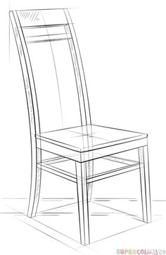 chair drawing easy. How To Draw A Chair Step By Step. Drawing Tutorials For Kids And Beginners. Easy S