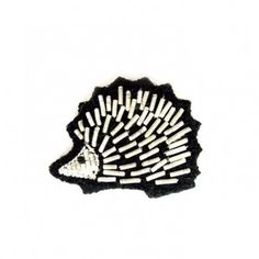 "Small hand-embroidered ""Hedgehog"" pin"