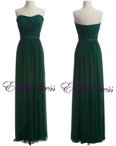 Dark green prom dress long prom dress fashion prom by epindress, $88.00