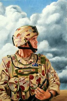 A soldier. Oil on canvas. Australian Army Collection.