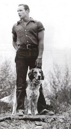 Brando knew about man's best friend. (via Marshall Matlock)
