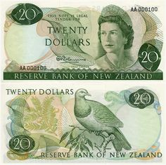 Third series of banknotes: $20 All Things New, Old Things, Nz History, International Flags, Kiwiana, Old Money, My Memory, Coin Collecting, The Good Old Days