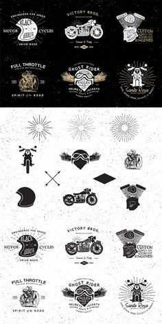 Customizable Vintage Motorcycle Logos for Members
