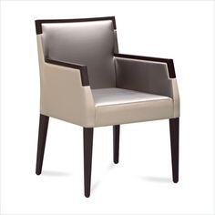 Domitalia Ariel-Pi Armchair in Wenge and Taffy Grey - ARIEL-P-0ID-WE011W