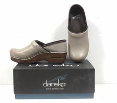 NIB Dansko Professional Soft Sand Dollar Full Grain Leather sz 5.5 - 6 #Dansko #Clogs