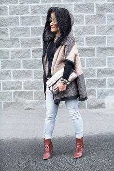 Karin Bohn Hooded Winter Cape 14