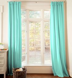 Carousel Designs Teal Baby Curtain Panel