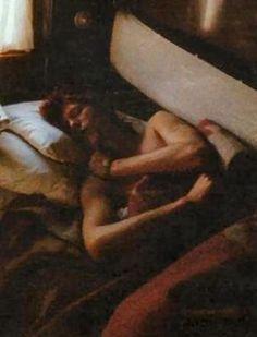 David Bowie sleeping in a train, 1973