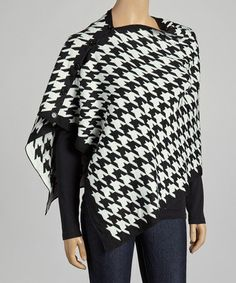 Another great find on #zulily! Black & White Houndstooth Convertible Cape #zulilyfinds