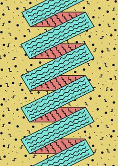 Criação e Percepção - estudo de linhas diagonais dando sensação de movimento.