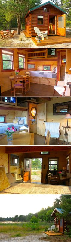 A tiny cabin in New Jersey, available for rent on Airbnb