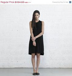 Big summer Sale Flower Dress  Black . by naftul on Etsy, $100.50