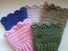 Crochet Boot Cuffs for Girls/Women  Choose a Color  by PoochieBaby