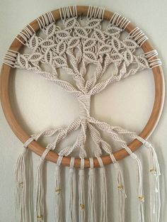 Tree of Life / Large Macrame Wall Hanging / Circle Art / Woven Wall Hanging / Macrame Art / Wall Decor / Yoga Decor / Circle Macrame / Zen : Tree of Life macrame wall hanging by MossHoundDesigns on Etsy Etsy Macrame, Macrame Owl, Macrame Knots, Macrame Patterns, Wall Patterns, Yoga Dekor, Macramé Art, Modern Macrame, Copper Wall Art