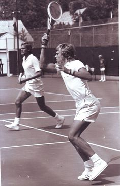 Borg rarely played doubles, which makes this picture quite particular.
