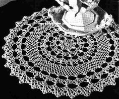 Honeysuckle Doily Old and New Favorites By Request Coats & Clarks Book No. 148 1964 Doily measures 14 inches in diameter.