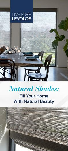 Bring nature's beauty inside with LEVOLOR Natural Shades. Complement your home's style with signature fabrics created from natural elements, such as jute, bamboo, and grass. Interior Paint Colors, Paint Colors For Home, Interior Design Kitchen, Interior Design Living Room, Small Room Bedroom, Bedroom Decor, Home Design Plans, My New Room, Sweet Home