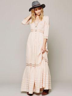 WHAT?! $400?! Whoa.... I wonder if I can sew something similar myself? Looks easy enough! ;)  Free People Heart Dress, $398.00