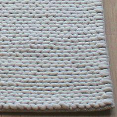 Chunky rope wool rug